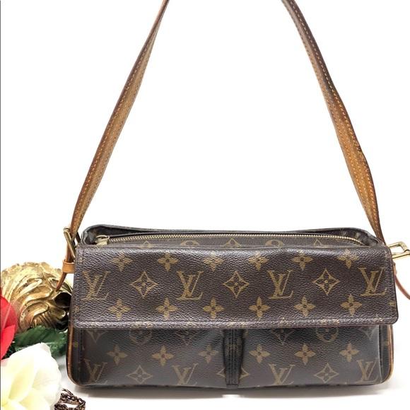 b3d7016c Auth Louis Vuitton Viva Cite MM Shoulder Bag